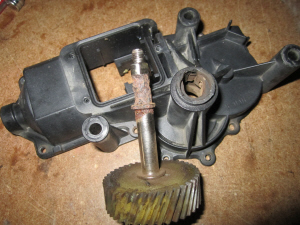 Fiero headlight motor corrosion